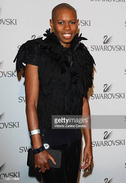 Singer Skin attends the Swarovski Fashionation at Palazzo Reale on June 7 2011 in Milan Italy