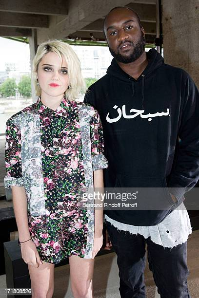 Singer Sky Ferreira and Virgil Abloh attend Givenchy Menswear Spring/Summer 2014 Show as part of the Paris Fashion Week held at City of Fashion and...