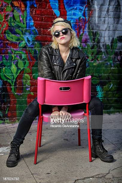 Singer Sky Ferreira is photographed for Los Angeles Times on October 25 2013 in Los Angeles California PUBLISHED IMAGE CREDIT MUST READ Ricardo...