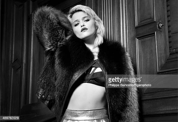 10831707 Singer Sky Ferreira is photographed for Madame Figaro on November 4 2013 in Paris France Coat bra PUBLISHED IMAGE CREDIT MUST READ Philippe...