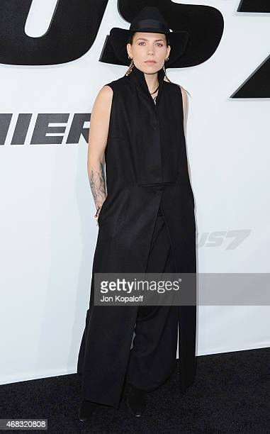 Singer Skylar Grey arrives at the Los Angeles Premiere 'Furious 7' at TCL Chinese Theatre IMAX on April 1 2015 in Hollywood California