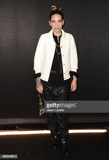 Singer Skylar Grey attends the Coach Backstage Rodeo Drive store opening celebration at Coach Boutique on December 11 2014 in Beverly Hills California