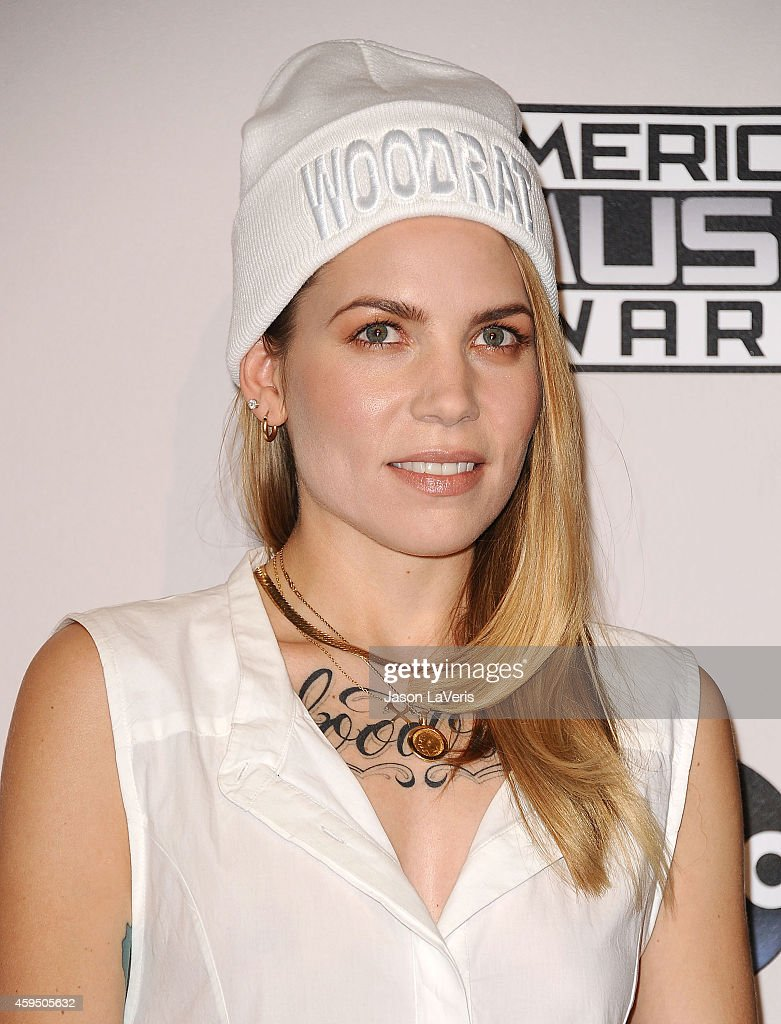 Singer Skylar Grey poses in the press room at the 2014 American Music Awards at Nokia Theatre L.A. Live on November 23, 2014 in Los Angeles, California.