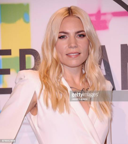 Singer Skylar Grey poses in the press room at the 2017 American Music Awards at Microsoft Theater on November 19 2017 in Los Angeles California