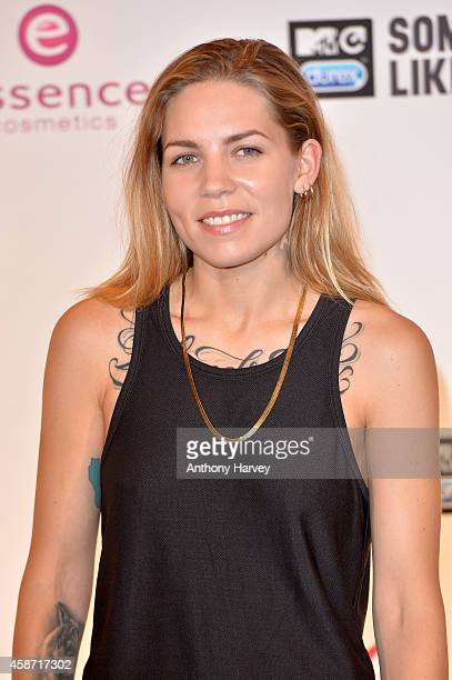 Singer Skylar Grey poses in the winners room at the MTV EMA's 2014 at The Hydro on November 9 2014 in Glasgow Scotland