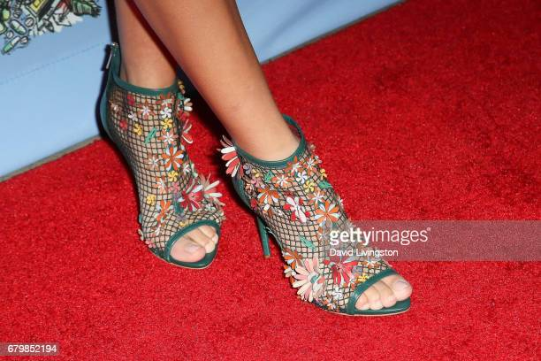 Singer Skylar Stecker shoe detail attends the screening of Warner Bros Pictures' 'Everything Everything' at the TCL Chinese Theatre on May 6 2017 in...