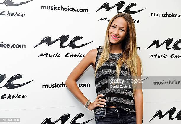 Singer Skylar Stecker visits Music Choice on July 23 2015 in New York City