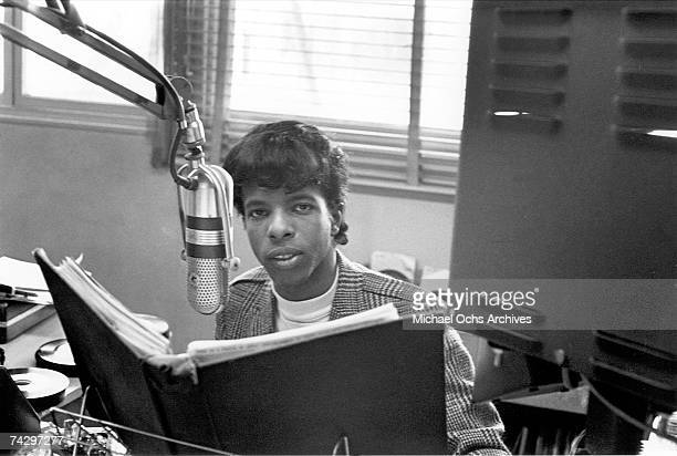 Singer Sly Stone as a radio DJ on KSOL FM before he started the psychedelic soul group 'Sly The Family Stone' in San Francisco California