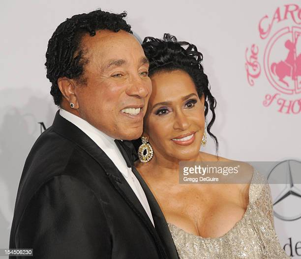 Singer Smokey Robinson and Frances Robinson arrive at the 26th Anniversary Carousel Of Hope Ball presented by MercedesBenz at The Beverly Hilton...