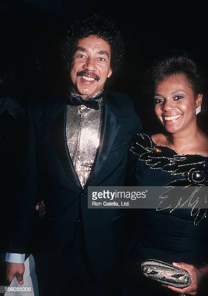 Singer Smokey Robinson and wife Claudette Rogers attending 'Stevie Wonder Lifetime Achievement Awards' on October 6 1985 at the Century City...