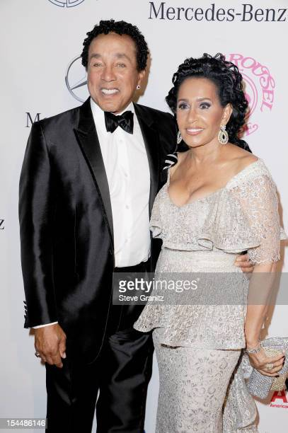 Singer Smokey Robinson and wife Frances Robinson arrive at the 26th Anniversary Carousel Of Hope Ball presented by MercedesBenz at The Beverly Hilton...