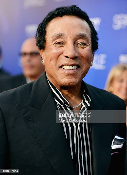 """Singer Smokey Robinson arrives at the Los Angeles Premiere of """"Sparkle"""" at Grauman's Chinese Theatre on August 16, 2012 in Hollywood, California."""