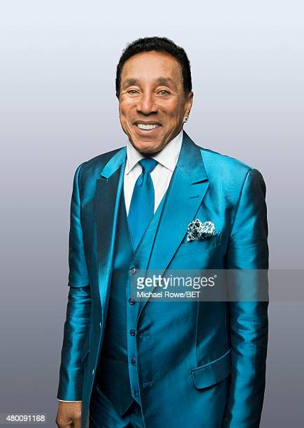 Singer Smokey Robinson poses for a portrait at the 2015 BET Awards on June 28 2015 at the Microsoft Theater in Los Angeles California