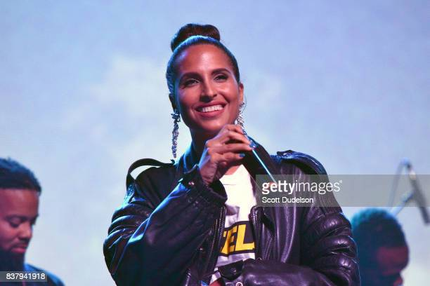 Singer Snoh Aalegra performs onstage during the GIRL CULT Festival at The Fonda Theatre on August 20 2017 in Los Angeles California
