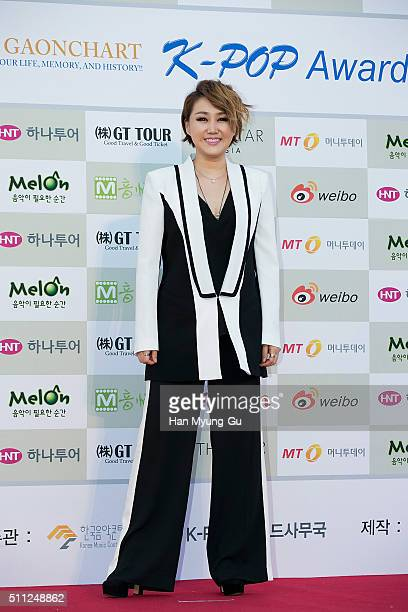 Singer So Chan-Hwi attends the 5th Gaon Chart K-Pop Awards on February 17, 2016 in Seoul, South Korea.