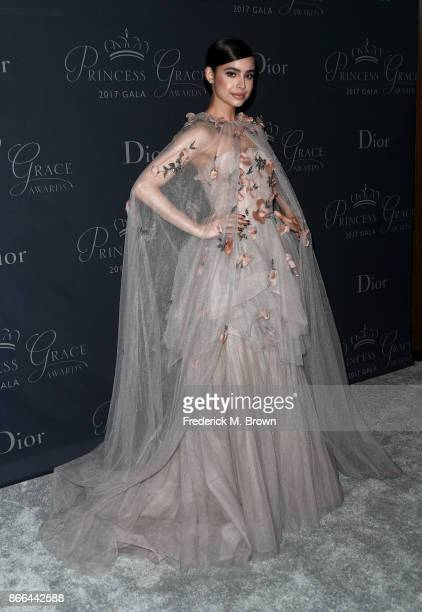 Singer Sofia Carson attends 2017 Princess Grace Awards Gala at The Beverly Hilton Hotel on October 25 2017 in Beverly Hills California