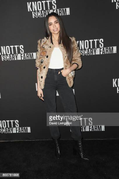 Singer Sofia Carson attends the Knott's Scary Farm and Instagram's Celebrity Night at Knott's Berry Farm on September 29 2017 in Buena Park California