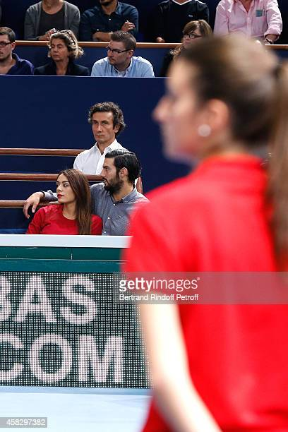 Singer Sofia Essaidi and her companion attend the Final match during day 7 of the BNP Paribas Masters Held at Palais Omnisports de Bercy on November...