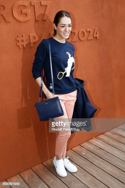Singer Sofia Essaidi attends the 2017 French Tennis Open Day Eleven at Roland Garros on June 7 2017 in Paris France