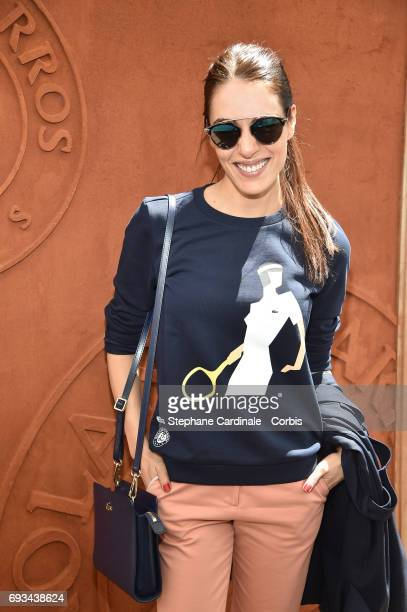 Singer Sofia Essaidi attends the 2017 French Tennis Open_Day Eleven at Roland Garros on June 7 2017 in Paris France