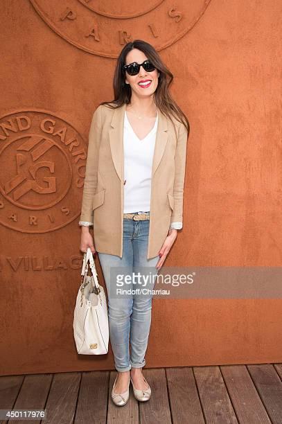 Singer Sofia Essaidi attends the Roland Garros French Tennis Open 2014 Day 12 attends the Roland Garros French Tennis Open 2014 Day 12 at Roland...
