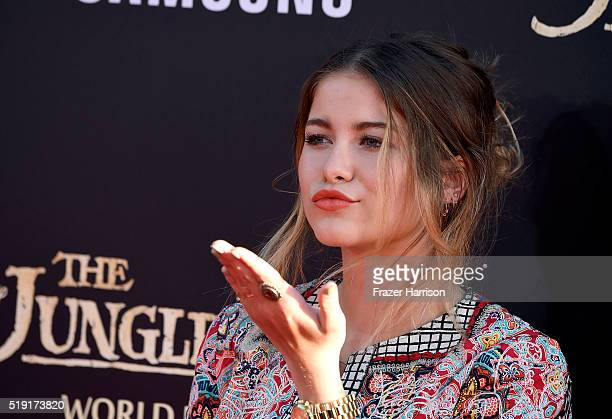 Singer Sofia Reyes attends the premiere of Disney's The Jungle Book at the El Capitan Theatre on April 4 2016 in Hollywood California