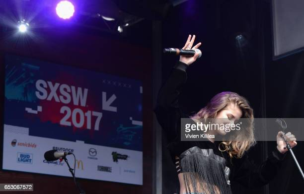 Singer Sofia Reyes performs onstage during Pandora at SXSW 2017 on March 13 2017 in Austin Texas