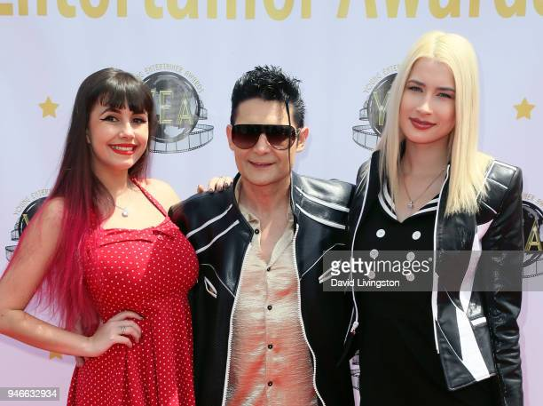 Singer Soheila Clifford actor Corey Feldman and his wife model Courtney Anne Mitchell attend the 3rd Annual Young Entertainer Awards at The Globe...