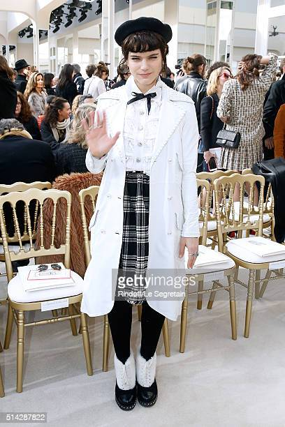 Singer Soko attends the Chanel show as part of the Paris Fashion Week Womenswear Fall/Winter 2016/2017 on March 8 2016 in Paris France