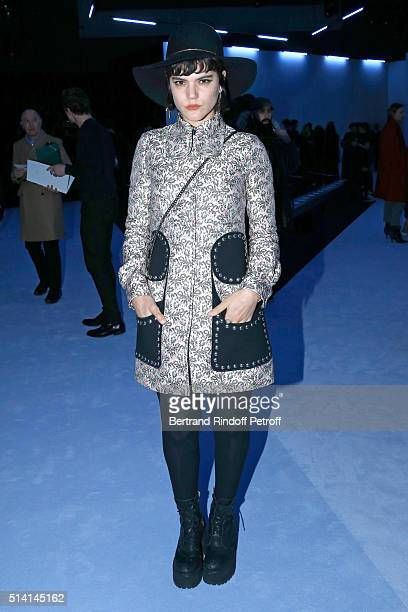 Singer Soko attends the Giambattista Valli show as part of the Paris Fashion Week Womenswear Fall/Winter 2016/2017 on March 7 2016 in Paris France
