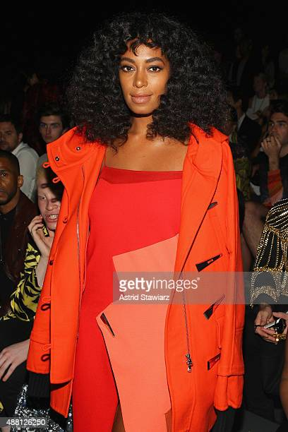 Singer Solange attends Prabal Gurung Spring 2016 during New York Fashion Week The Shows at The Arc Skylight at Moynihan Station on September 13 2015...