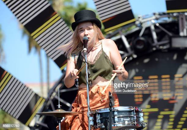 Singer Solange Kaye Marie Igoa of the band Bearcoon performs onstage during the 2nd annual Music Tastes Good Festival at Marina Green Park on October...