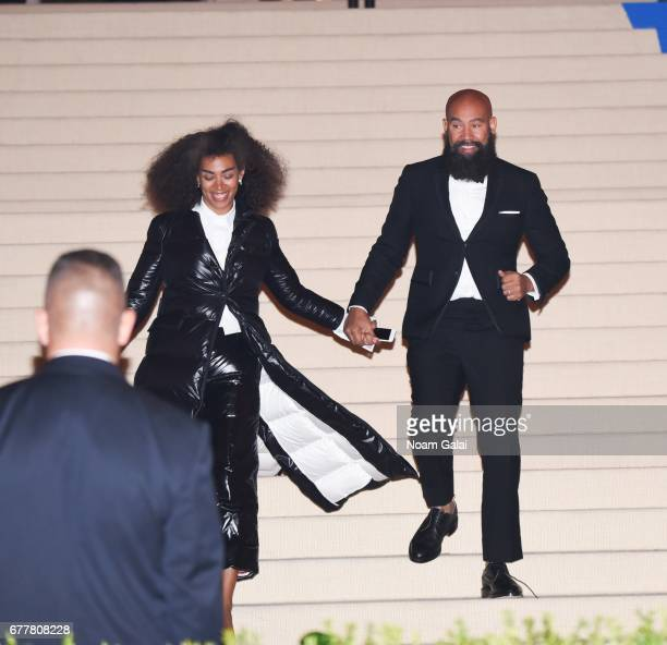 """Singer Solange Knowles and director Alan Ferguson attend the """"Rei Kawakubo/Comme des Garcons: Art Of The In-Between"""" Costume Institute Gala at..."""