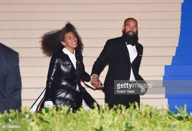 "Singer Solange Knowles and director Alan Ferguson attend the ""Rei Kawakubo/Comme des Garcons: Art Of The In-Between"" Costume Institute Gala at..."