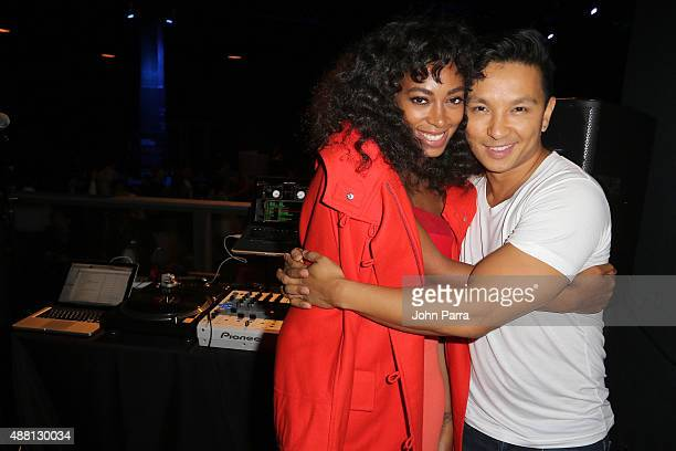 Singer Solange Knowles and Fashion Designer Prabal Garung attend Prabal Garung at Lexus Design Disrupted at Skylight at Moynihan Station on September...