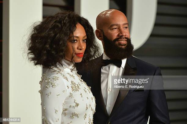 Singer Solange Knowles and Music Video Director Alan Ferguson attends the 2015 Vanity Fair Oscar Party hosted by Graydon Carter at Wallis Annenberg...