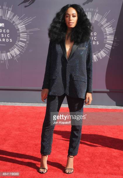 Singer Solange Knowles arrives at the 2014 MTV Video Music Awards at The Forum on August 24, 2014 in Inglewood, California.