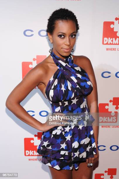 Singer Solange Knowles attends DKMS' 4th Annual Gala Linked Against Leukemia at Cipriani 42nd Street on April 29 2010 in New York City