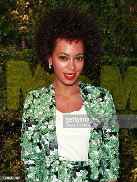 Singer Solange Knowles attends the 2012 Party In The Garden Benefit at the Museum of Modern Art on May 22 2012 in New York City