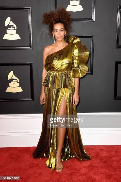 Singer Solange Knowles attends The 59th GRAMMY Awards at STAPLES Center on February 12 2017 in Los Angeles California