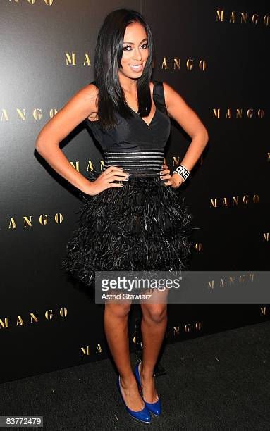 Singer Solange Knowles attends the after party to the re-launch of MANGO's flagship store held at the Shang Restaurant on November 20, 2008 in New...