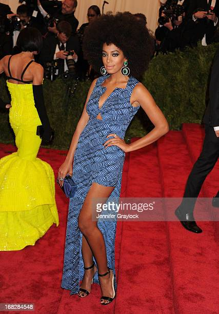 Singer Solange Knowles attends the Costume Institute Gala for the 'PUNK Chaos to Couture' exhibition at the Metropolitan Museum of Art on May 6 2013...