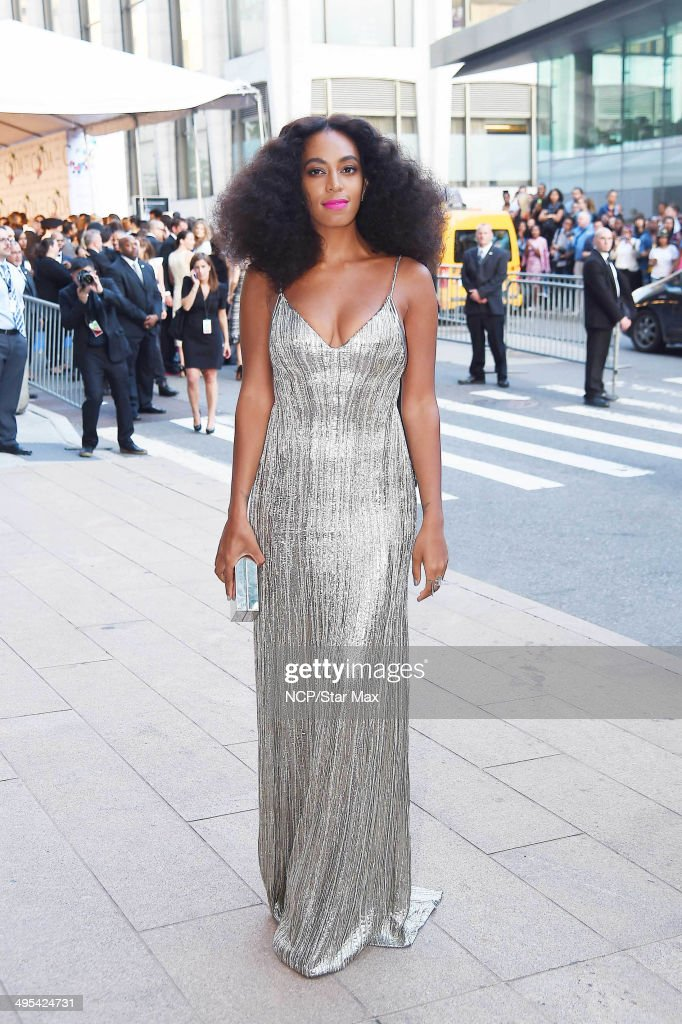 Singer Solange Knowles is seen arriving at The 2014 CFDA Fashion Awards on June 2, 2014 in New York City.