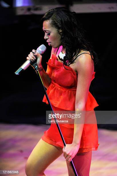 Singer Solange Knowles onstage during the 6th Annual Woman's Day Red Dress Awards at the Allen Room in Frederick P Rose Hall Jazz at Lincoln Center...