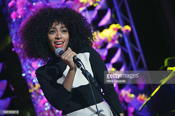 Singer Solange Knowles performs at The Armory Party at MOMA on March 6, 2013 in New York City.
