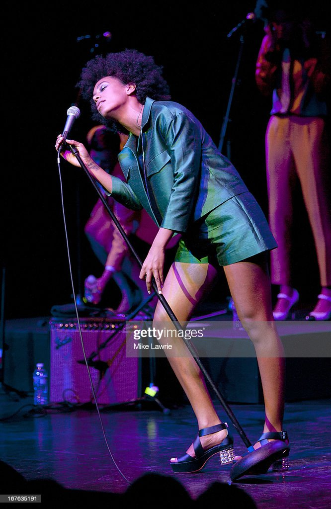Singer Solange performs during the 2013 Crossing Brooklyn Ferry Festival at Brooklyn Academy of Music on April 26, 2013 in the Brooklyn borough of New York City.