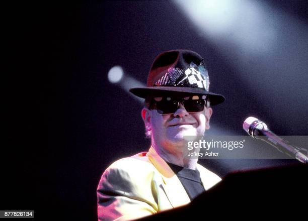 Singer Song Writer Elton John performs at the opening of The Taj Mahal Casion Hotel in Atlantic City New Jersey April 2 1990