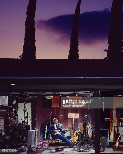 Singer songwiter Tom Petty shot in his bandmate's garage studio in Los Angeles in 1986