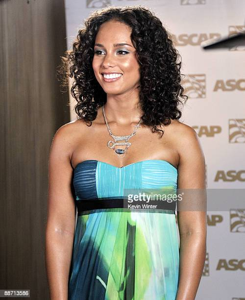 Singer songwriter Alicia Keys arrives at the 22nd Annual ASCAP Rhythm Soul Music Awards at the Beverly Hilton Hotel on June 26 2009 in Beverly Hills...
