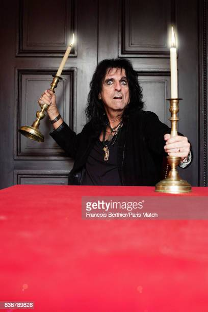 Singer songwriter and actor Alice Cooper is photographed for Paris Match on July 4 2017 in Paris France